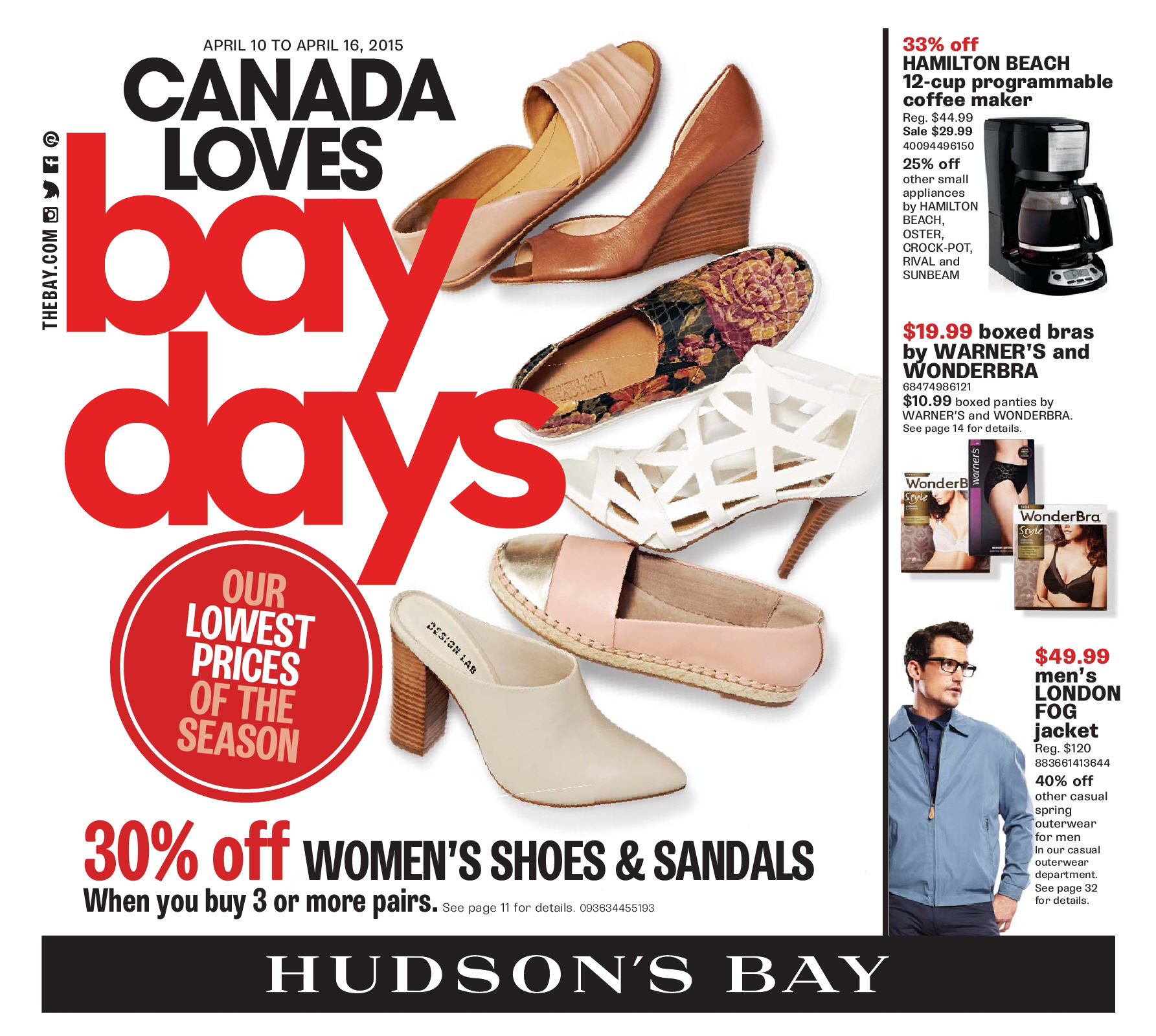 3f73233462fb The Bay Weekly Flyer - Weekly - Canada Loves Bay Days - Apr 10 – 16 -  RedFlagDeals.com