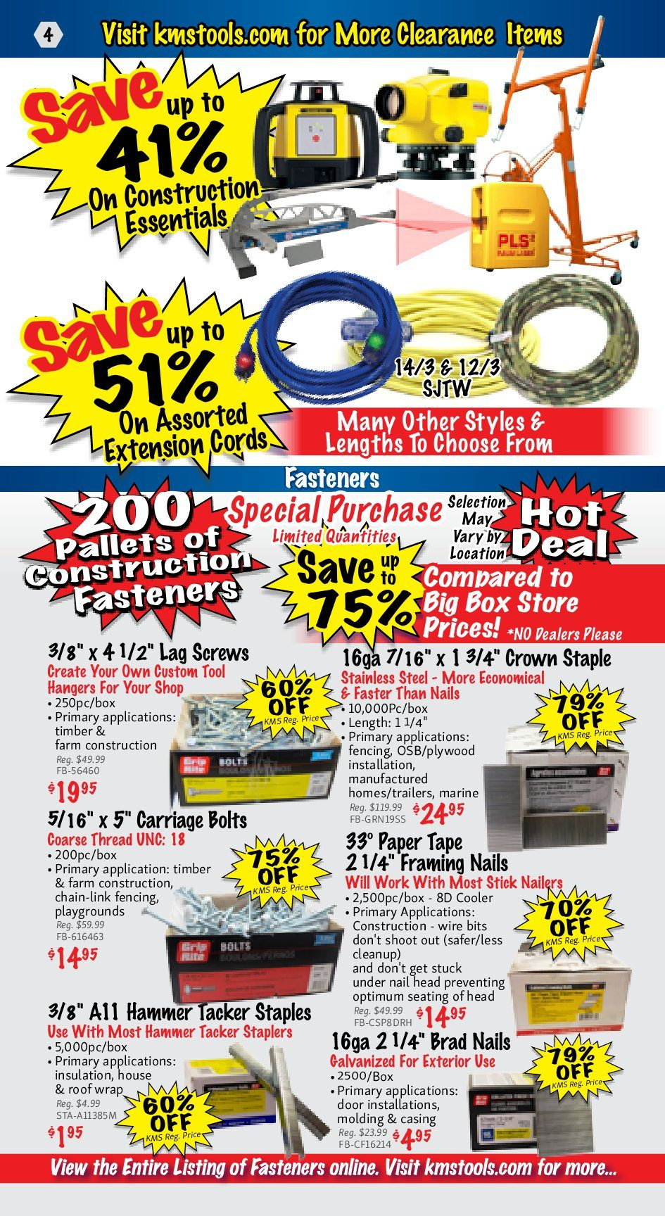 Kms Tools Weekly Flyer January Clearance Hot Deals Sale Jan 1 Use Toggle Switch 20amp Back And Side Wired Singlepole 81200 W 31
