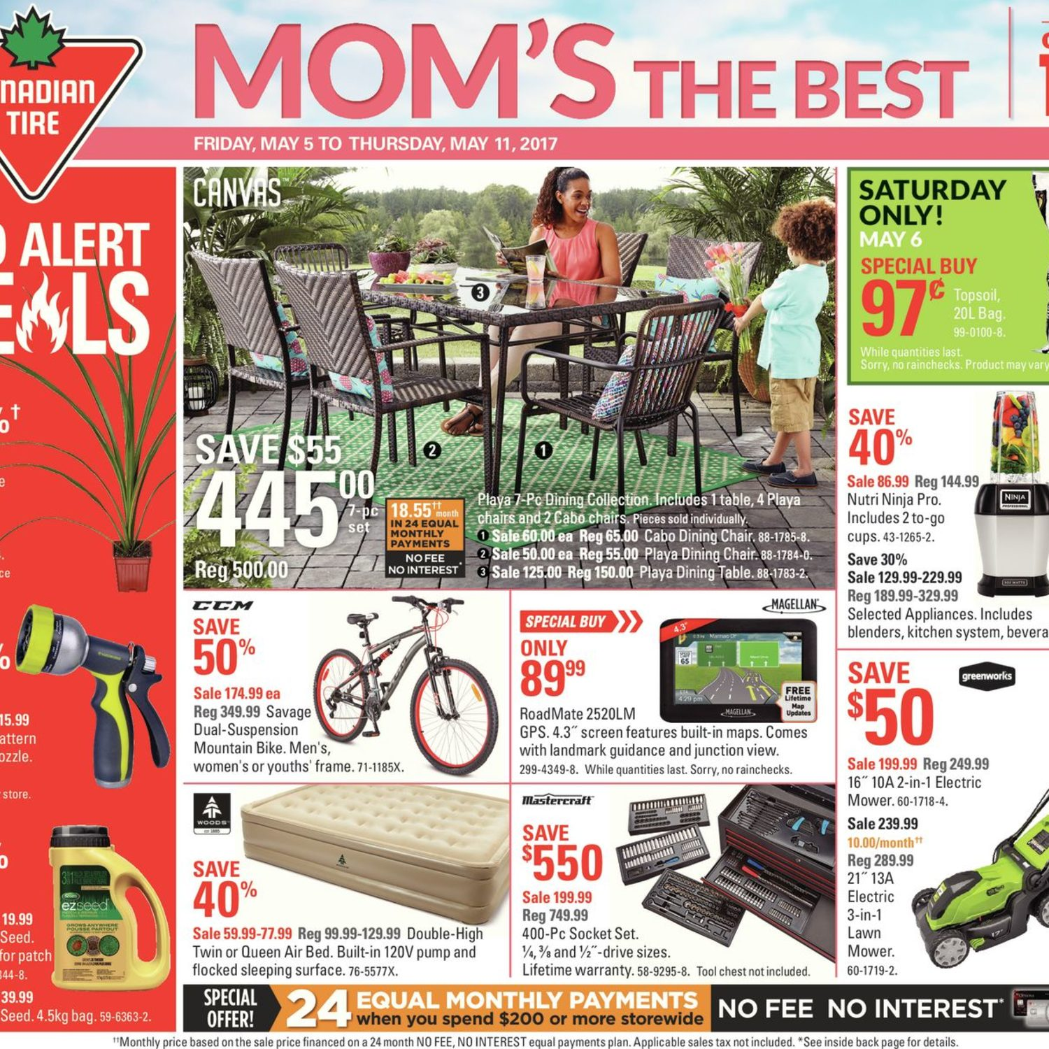 Canadian Tire Weekly Flyer Weekly Mom s The Best May 5 – 11