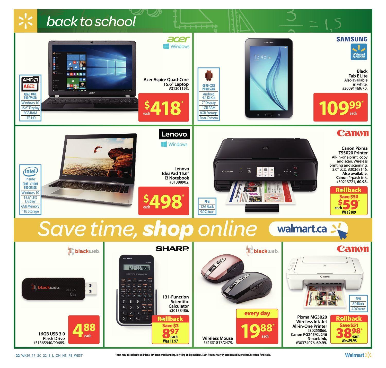 Walmart Weekly Flyer - Supercentre - Back to School - Aug 10