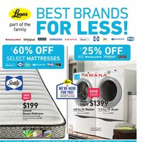 Leon's - Part of the Family - Best Brands for Less! Flyer