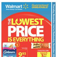 Walmart - Weekly - The Lowest Price is Everything Flyer