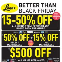 Leon's - Better Than Black Friday Flyer