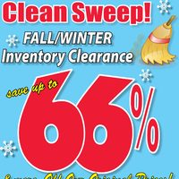 Fabricland - Clean Sweep! - Fall/Winter Inventory Clearance Flyer
