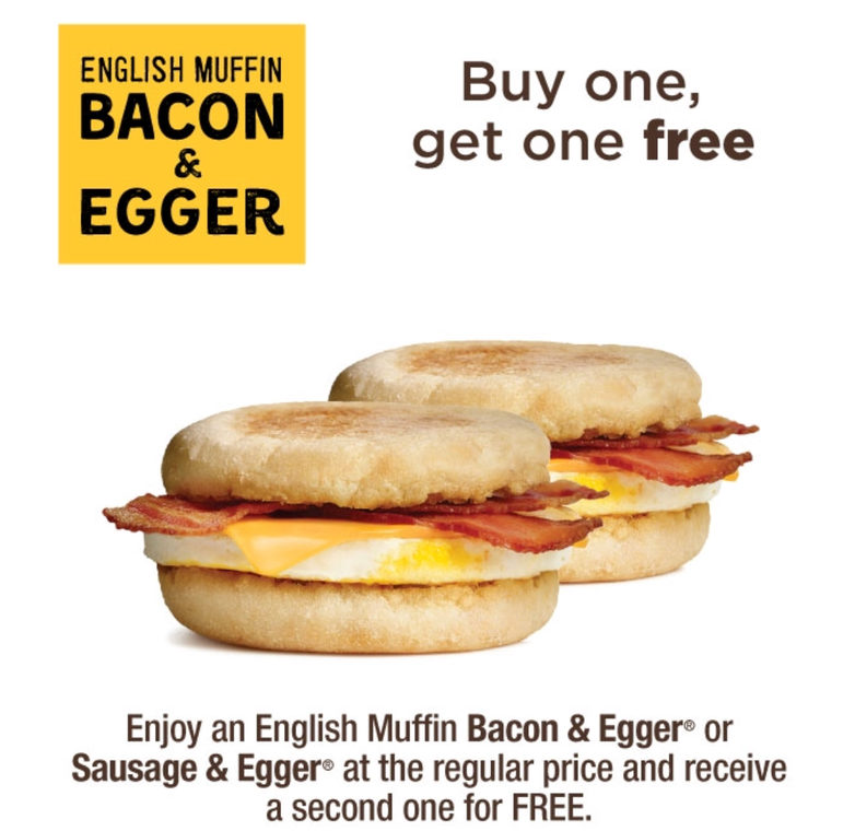A&W Buy one get one FREE (Sausage or Bacon & egger)
