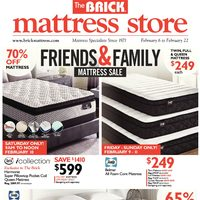 The Brick - Mattress Store - Friends & Family Mattress Sale Flyer