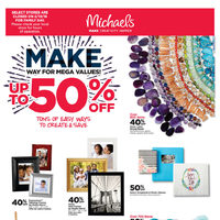 Michaels - Weekly - Make Way For Mega Values! Flyer