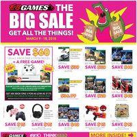 EB Games - The Big Sale - Get All The Things! Flyer