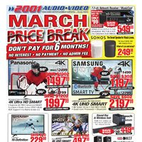 2001 Audio Video - Weekly - March Price Break Flyer