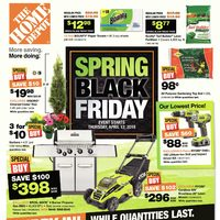 Home Depot - Weekly - Spring Black Friday Flyer