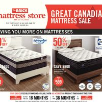 The Brick - Mattress Store - Great Canadian Mattress Sale Flyer