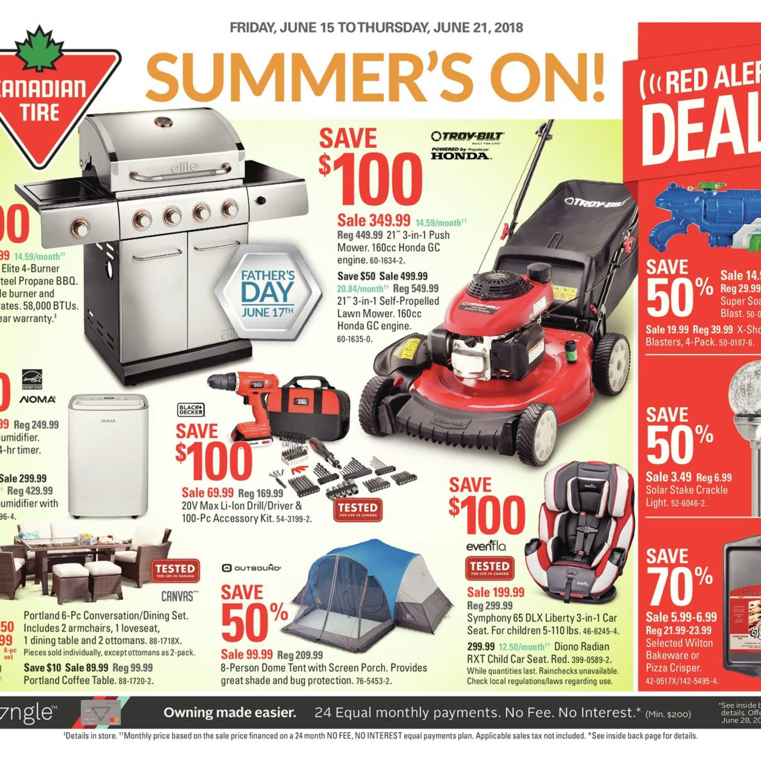 Canadian Tire Weekly Flyer - Weekly - Summer's On - Jun 15 – 21