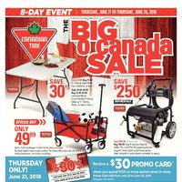 Canadian Tire - 8-Day Event - The Big O Canada Sale Flyer