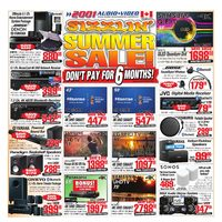 2001 Audio Video - Weekly - Sizzling' Summer Sale! Flyer
