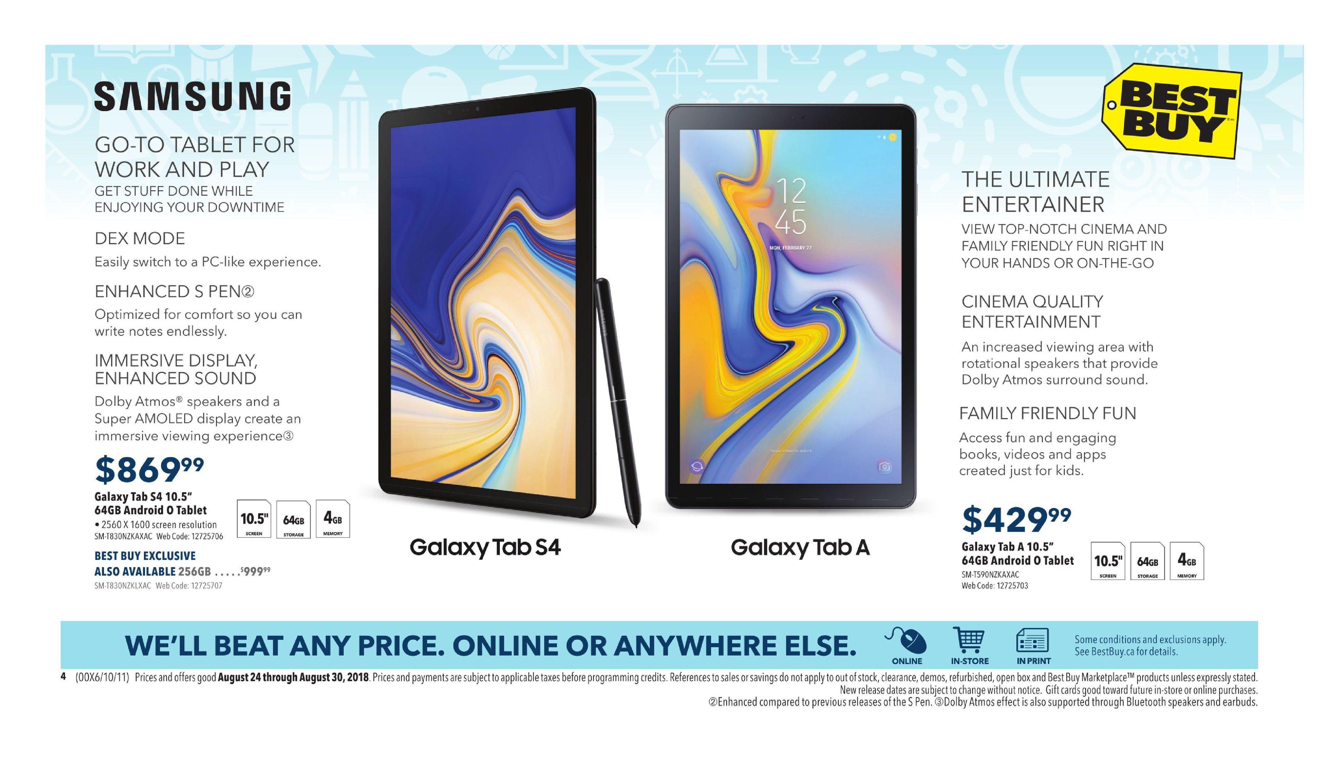 Best Buy Weekly Flyer Back To School Deals Aug 24 30 Flashdisk V Gen Astro 64 Gb 20 Original