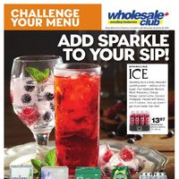 Wholesale Club - Challenge Your Menu - Add Sparkle To Your Sip! Flyer