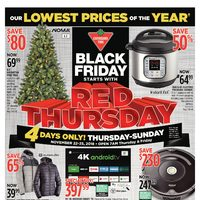Canadian Tire - Black Friday Starts With Red Thursday Flyer