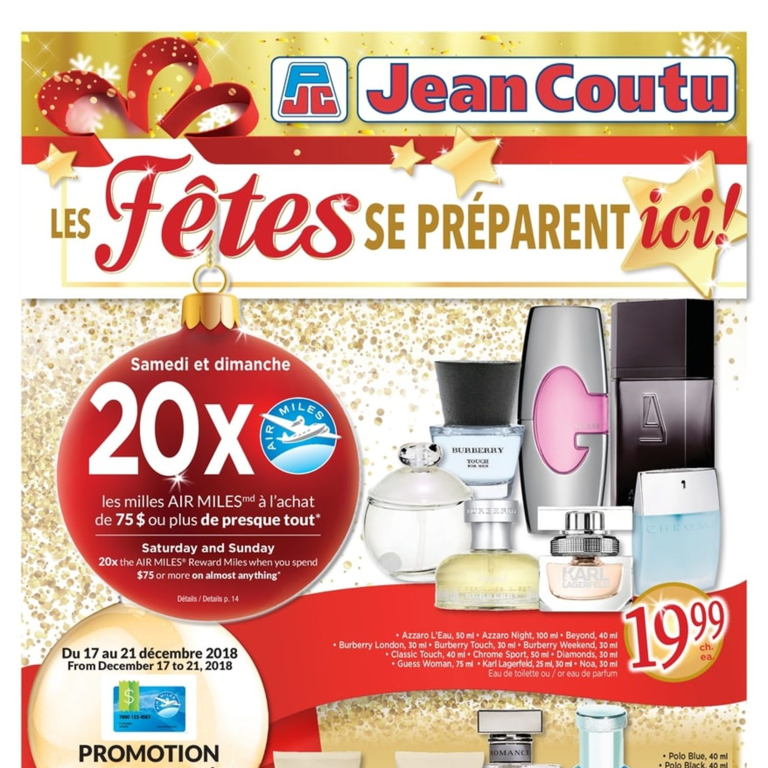 Jean Coutu Weekly Flyer Wrap Up The Holidays Dec 13 19