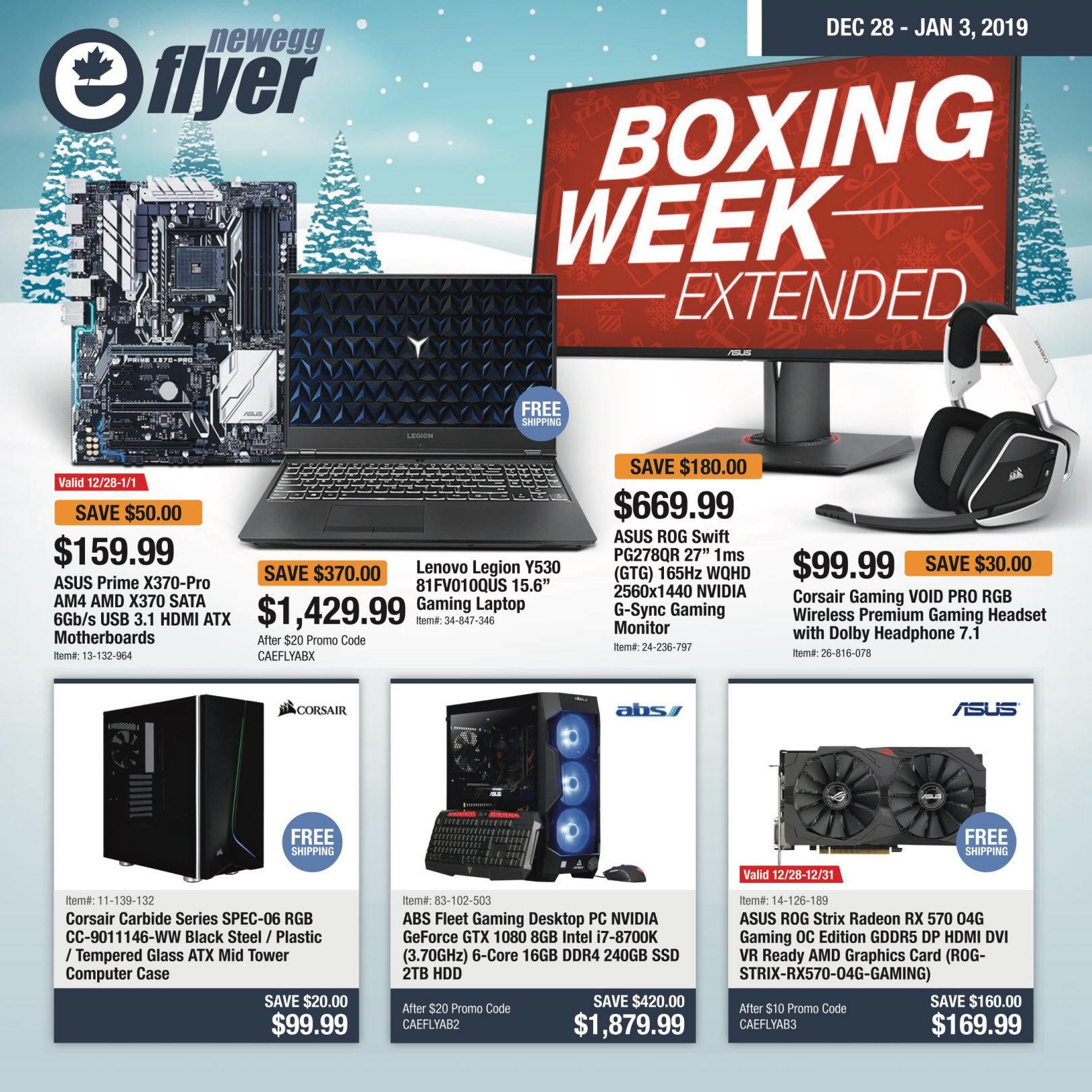 Newegg Weekly Flyer - Boxing Week Extended - Dec 28 – Jan 3