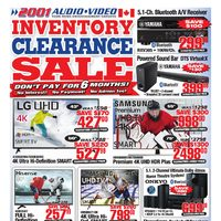 2001 Audio Video - Weekly - Inventory Clearance Sale Flyer
