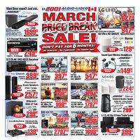 2001 Audio Video - Weekly - March Price Break Sale! Flyer