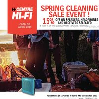 Centre HIFI - Spring Cleaning Sale Event! Flyer