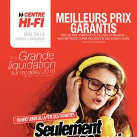 Centre HIFI - Grande liquidation- L'équivalent on paie 2 taxes! Flyer