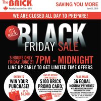The Brick - Black Friday Sale Flyer