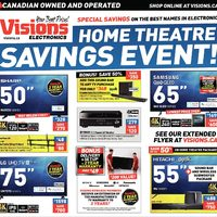 Visions Electronics - Weekly - Home Theatre Savings Event! Flyer