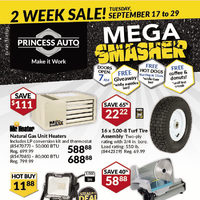 Princess Auto - 2 Week Sale! - Mega Smasher Flyer