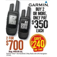 Garmin Rino 700 Handheld 2-Way Radio With GPS Navigation