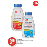 Life Brand Calcium Antacid Chewable Tablets
