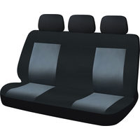 Pro-Point Universal Bench Seat And Headrests Covers - Black/Grey