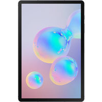 "Samsung Galaxy Tab S6 10.5"" 128GB Android 9 Tablet With Snapdragon 8150 8-Core Processor - Mountain Grey"