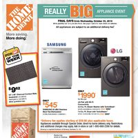 Home Depot - Weekly - Really Big Appliance Event Flyer