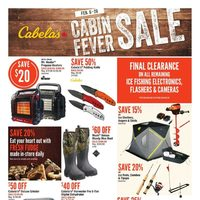 Cabelas - Cabin Fever Sale Flyer