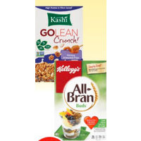 Kellogg's All-Bran Buds, Pc Blue Menu Omega Almond Granola or Kashi Cereal