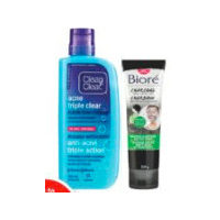 Clean & Clear, Bioré Facial Cleansers or Acne Care Products