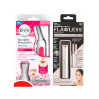 Veet Precision Trimmer, Finishing Touch Flawless Face or Brows Hair Removal Products