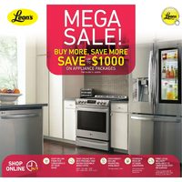 Leon's - Mega Sale! - Buy More, Save More on Appliances Flyer