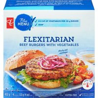 PC Blue Menu Flexitarian Beef Burger with Vegetables