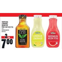 Tropicana Lemonade, Drinks Or Pure Leaf Iced Tea