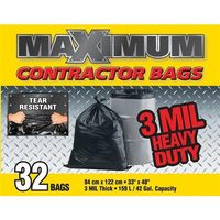 Maximum 32-Pack 42-Gal Heavy Duty Contractor Bags