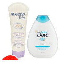 Dove or Aveeno Baby Toiletries