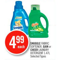 Snuggle Fabric Softener, Gain Or Cheer Laundry Detergent