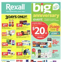 Rexall - Weekly - Big Anniversary Event Flyer