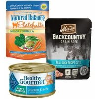 Blue Healthy Gourmet, Merrick, Natural Balance and Simply Nourish Cat Food