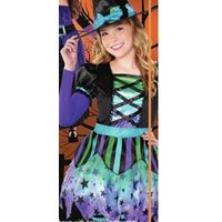 Girls Spell Caster Witch Costume 2-4T