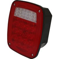 Power Fist 6-3/4 x 5-3/4 In. Led Stop/Turn/Tail/Backup Light