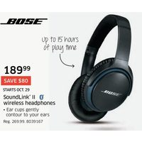Bose Soundlink ll Wireless Headphones